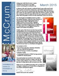 Prayer Letter 2015-03